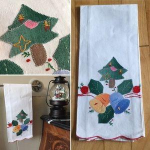 Vintage Handmade Christmas Hand Towel